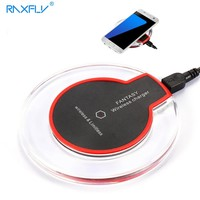 RAXFLY Qi Wireless Charger For Samsung Galaxy S8 Plus Fast Wireless Charging Phone Chargers