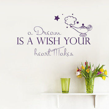 Wall Decal Quotes A Dream Is A Wish Decals Nursery Room Sticker Home Decor MR697