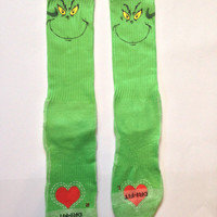 Grinch Christmas Nike Crew Socks