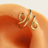 Upper Cartilage Gold Filled Simple Earring Cuff