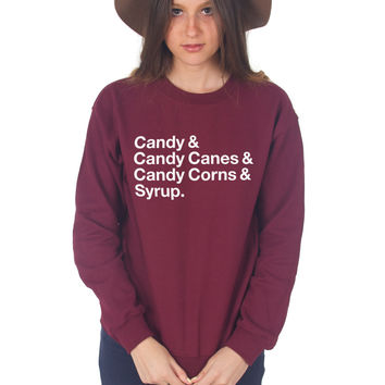 Candy Canes & Syrup Christmas Sweater