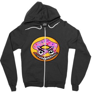 Angry Donut Zipper Hoodie