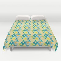 colorful triangle pattern Duvet Cover by Berwies