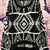 Geometry Sweater Black
