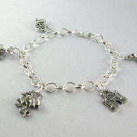 Sleeping Beauty-Inspired Silver Charm Bracelet