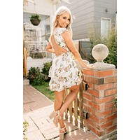 Bloom And Grow Open Back Dress (Off White)