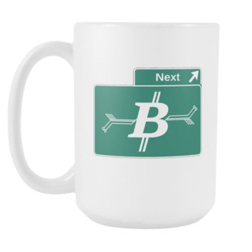Bitcoin Road Sign Tall Mug