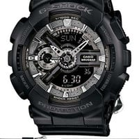 Casio G-Shock S Series - Analog Digital - World Time - Black & Silver - 200m