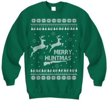 Merry Huntmas Ugly Christmas Sweater
