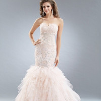 AB7075 Lace Applique Mermaid Prom Pageant Dress Evening Gown