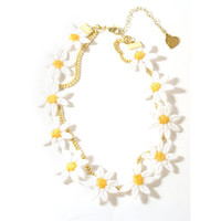 Daisy Choker Chain Necklace | VidaKush