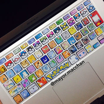 Pokemon inspired keyboard stickers for MacBooks and Apple Wireless keyboards- Ready to ship!