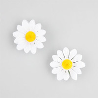 Full Tilt 2 Pack Daisy Hair Clips White One Size For Women 26080015001