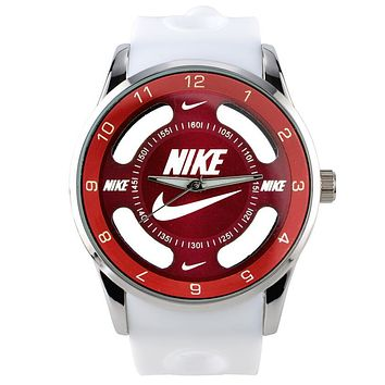 Nike Popular Women Men Watch Movement Couple Watch White Red I-SBHY-WSL
