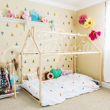 House bed 160x70, 80, 90cm, Montessori bed house, play house, kid bed, nursery furniture, floor bed, huis bed, educational toy,