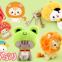 Buy Authentic AMUSE Neko Kaburi Headdress Cat Keychain at Tofu Cute
