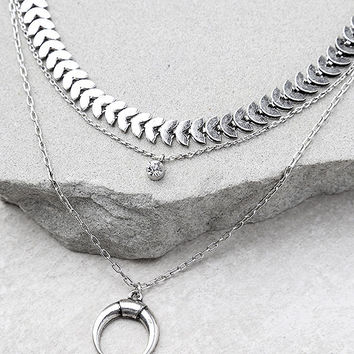 Child of the Wild Silver Layered Choker Necklace Set