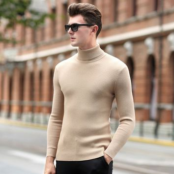 Men Sweater Thickening Slimming Pullover