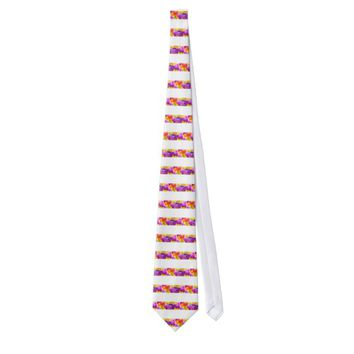 Tulips Enchanting Dark Pink Tie