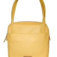 Palloncino Verde Butter Yellow Square Handbag By Designer James Costello