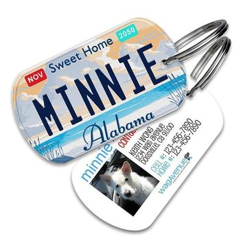 Alabama License Plate Pet Tag