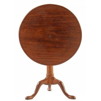 Pre-owned 18th Century George Ii Tilt Top Table