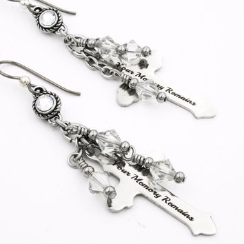 Cross Crystal Earrings