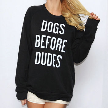 Dogs Before Dudes Eco-Fleece Pullover