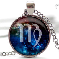 Virgo Nebula Necklace Zodiac Pendant in Your Choice by FrenchHoney