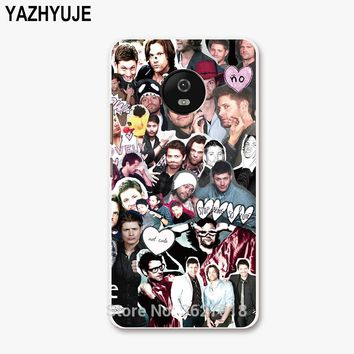YAZHYUJE For Motorola Moto G5 Phone Case Plastic hard pc back Cover for moto G5 G4 plus G Z play X2 SUPERNATURAL COLLAGE cases