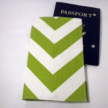 Chevron Passport Cover green chevron passport by redmorningstudios