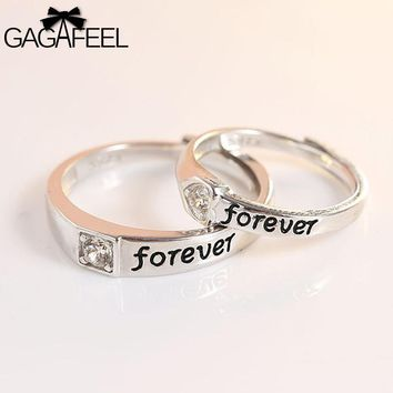 Couple Ring Genuine 925 Sterling Silver