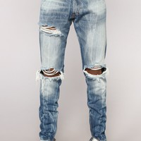 Nathan Skinny Jeans - Medium Wash