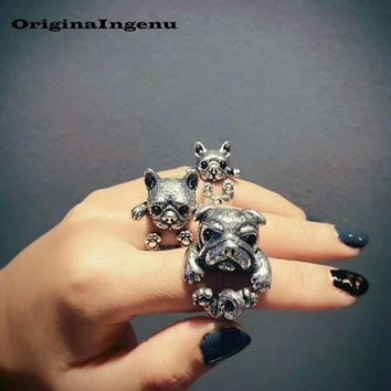 925 Sterling Silver Ring Vintage Jewelry Dog Lover Charm Bohemian Punk Simple Birthday Gift Haut Femme Anillos Rings for Women