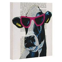 Coco de Paris Jetset Cow Art Canvas