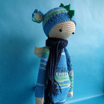 Dirk dragon, Lalylala inspired crochet doll.
