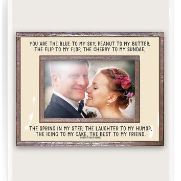 You Are The Blue To My Sky Copper & Glass Photo Frame