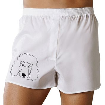 Cute Poodle Dog - White Boxer Shorts by TooLoud