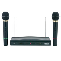 Naxa NAM-984 New Dual Wireless Microphone System Black