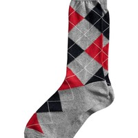 Banana Republic Factory Argyle Sock Size One Size - Ruby red