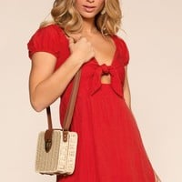 Emma Dress - Red