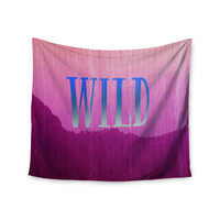 "Catherine McDonald ""Wild"" Pink Purple Wall Tapestry"