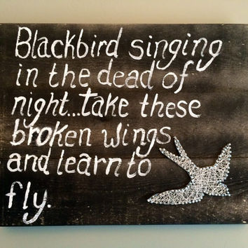 Blackbird wall or shelf decor!