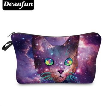 Deanfun 3D Printed Cat Cosmetic Bags Storage Women Makeup Required for Travel 51010
