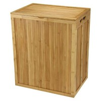 Folding Bamboo Hamper with Lid
