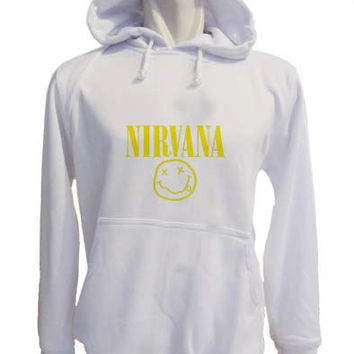 nirvana Hoodie Sweatshirt Sweater white variant color for Unisex size