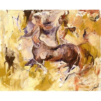 Centaurs - Original Oil Painting on Canvas by Marta Wiley