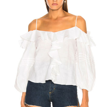 Alexis Tiana Top in Off White | FWRD