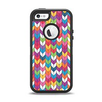 The Color Knitted Apple iPhone 5-5s Otterbox Defender Case Skin Set