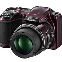 Nikon COOLPIX L820 16 MP CMOS Digital Camera with 30x Zoom Lens and Full HD 1080p Video (Plum) - International Version (No Warranty)